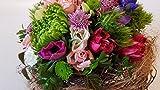 Blumengesteck mit frischen Blume- die perfekte Alternative zum frischen Blumenstrauß'Frühlingsglück' - Gesteck mit frischen Blumen zu Ostern/Frühling kaufen