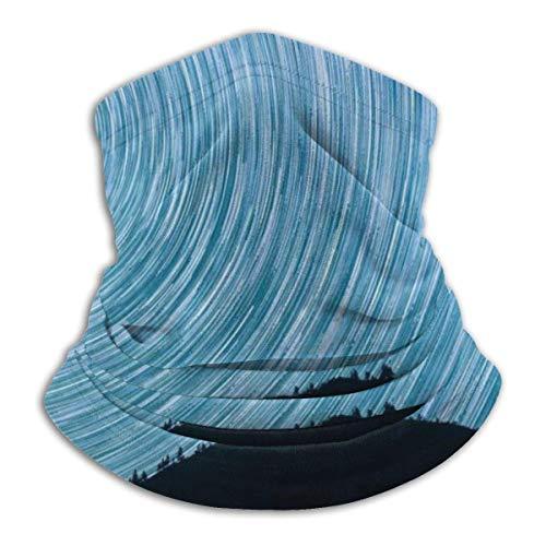 Dydan Tne Stars Milkyway Salmon North Startrails Headwear Cuello Polaina Calentador Invierno Ski Tube Bufanda Fleece Face Cover A Prueba de Viento