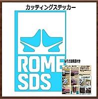 【③】ROME ローム スノーボード カッティング ステッカー (白, 20)