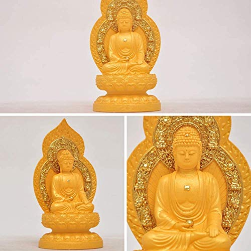 ZHTY Chinese Feng Shui Resin Maitreya Laughing Buddha Statue Decoration Figurine Craft Ornament Home Office Decor To Bring Peace And Enhance Positive Energy Decoration Ornaments