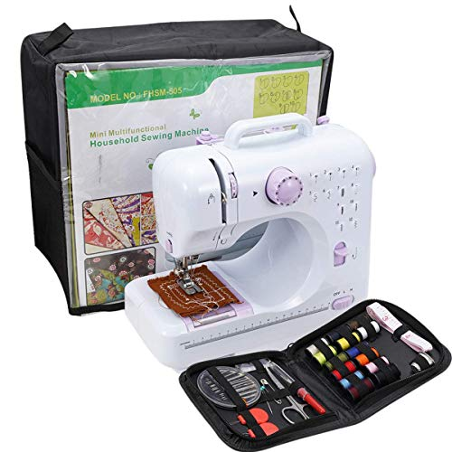 Mini Sewing Machine For Beginner Small Heavy Duty Sewing Machine Portable For Kids Light Weight Kids Sewing Machine Easy to Use With Bobbins Needles And Pedal.