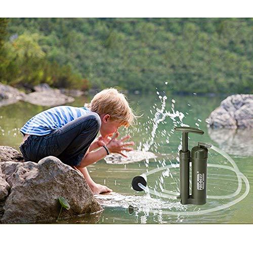 POSPORT Filtre d'eau personnelle 2000L pour Randonnée Voyage Backpacking Camping Survie, Élimine 99,9% des Bactéries