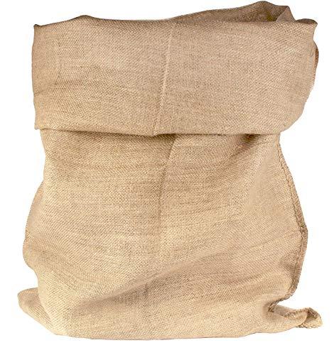 Jutesack 50x85cm - 5 Stück Jutesäcke Kübelpflanzen Getreidesack Winterschut Geschenkverpackung Jute Bepflanzung Natur kartoffeln