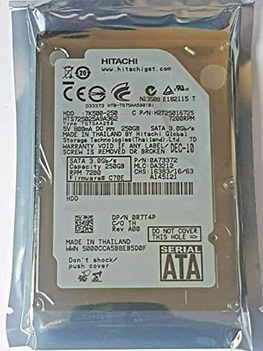Hitachi HTS725025A9A362 - Disco duro interno de 250 GB (7200 rpm, 16 MB, 2,5')