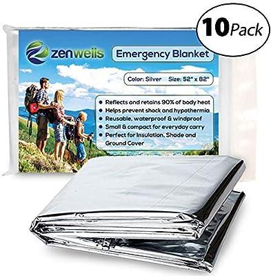 Zenwells Gold Emergency Solar Blankets - 5-Pack