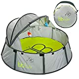 MAXIMUM SAFETY: This play tent shields your infant from UVA and UVB rays. Specially designed fabric has an SPF 50 anti-UV coating to protect your baby's skin. Side walls and canopy top protects your baby boy or girl from harmful sun, sand and wind. R...