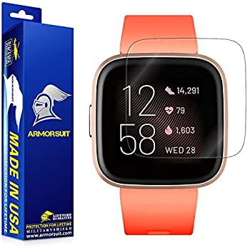 ArmorSuit MilitaryShield Screen Protector Compatible with Fitbit Versa 2  6 Pack  Max Coverage Anti-Bubble HD Clear Film
