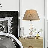 Lámpara de mesa de cristal de estilo nórdico para la cama de cabecera del dormitorio Europeo Simple Moderna Lámpara de cabecera caliente Lámpara de bordado de color marrón 19.2 pulgadas de altura