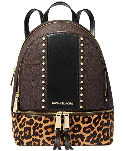 Michael Kors Mochila Rhea Zip Medium Logos/Animal Print 30F9GEZB6B Col