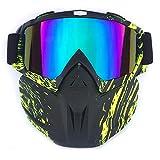 HCMAX Motocicleta Gafas de Moto Desmontable Mascara Facial Casco Bicicleta ATV MX Gafas para Desierto Fuera del Camino Equitación Carreras Se Adapta a Hombres Mujeres