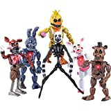 Inspired by Five Nights at Freddy's | Set of 6 PCS | FNAF Action Figures | Toy Set | Action Figures Toys Dolls | Toys Gifts | Cake Toppers | About 6 inches