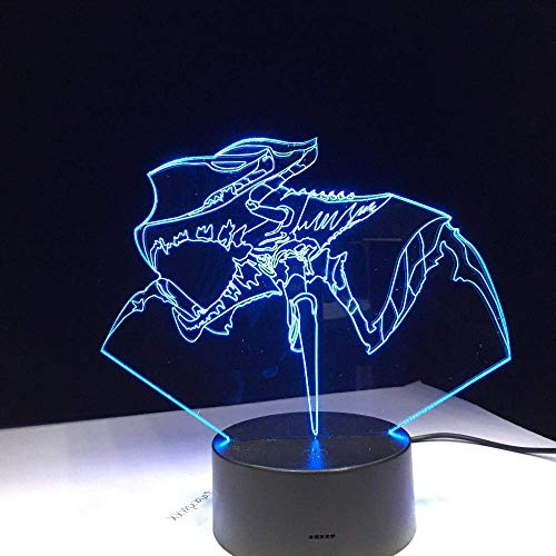 3D Illusion Lamp Led Night Light Starship Troopers Arachni Krieger Uropygi Visual Anime USB Desk Lamp Colors Change Children's Birthday Party Holiday Gifts