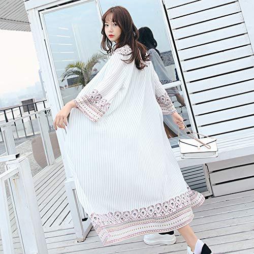 Yyh gebreide damesjas voor de zomer, met holle uitkant, voor bikini-verdoek, strand, zonwering, cardigan, badmode en kimono's Eén maat 5
