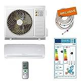 Home Deluxe - Klimaanlage SET Split XXL - Kühlen A++/Heizen A+ - 12000