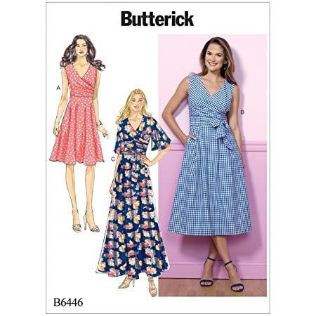 Butterick 6146 papier sewing pattern pour faire Fit /& Flare Dress XS-XL ou XXL 6XL