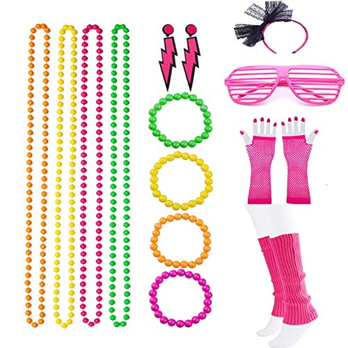 Women's Beaded Multi Colored Necklaces Set with Accessories