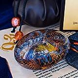 ZHEYANG Juguetes Dinosaurios Resina Huevo de Dragón Cristal Claro Recuerdo de Huevo de Dragón Model:G01309(Color:Blue)