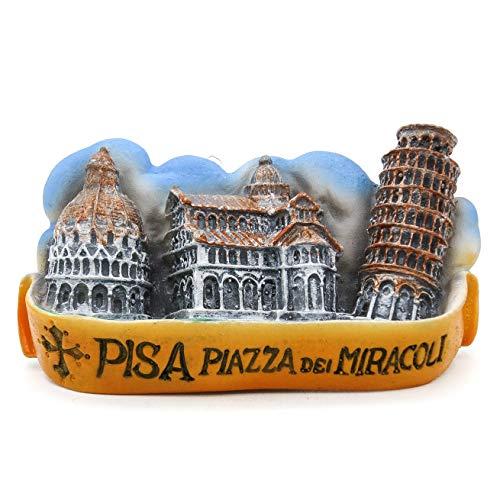Torre di Pisa Pisa Italien 3D Handgemalte Harz Magnet Roman Rom Italienisch Venizia Kathedrale Kolosseum Venedig Brunnen Trevi Vatikan Florenz Pisa Lehnend Mailand Neapel Gondel Toskana MIRACOLI