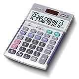 カシオ 本格実務電卓 12桁 検算機能 グリーン購入法適合 テレワークの効率UP ジャストタイプ シルバー JS-20WK-N