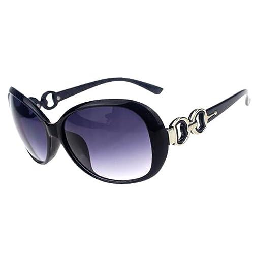 Women Shades Oversized Eyewear Classic Designer Sunglasses Fashion Style  UV400-Shining Black Grey 8f32e08f8f