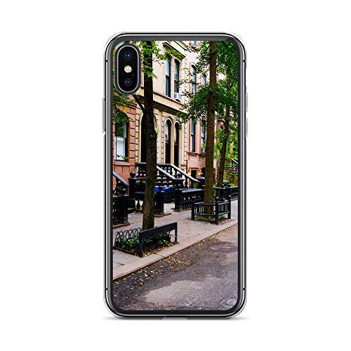 Megacase Handyhülle Brooklyn Ballerina kompatibel für iPhone 6 / 6s Straße Häuser Bronx Schutz Hülle Case Bumper transparent rund um Schutz Cartoon M13