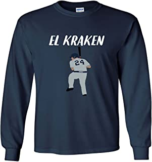 Long Sleeve Navy New York Sanchez El Kraken T-Shirt