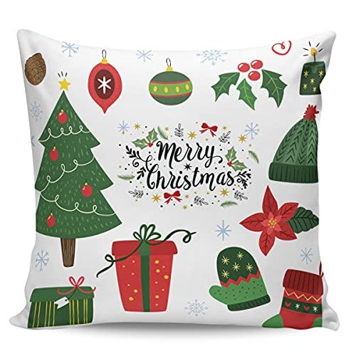Winter Rangers - Federa decorativa per cuscino decorativo con elementi di buon Natale, ultra morbida, per divano e camera da letto, 61 x 61 cm