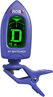 Guitar Ukulele Tuner Clip on - for Ukelele Bass Violin Instrument Chromatic Tuning, 360 Degree Rotating Battery Included, Auto Power Off