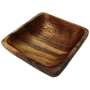 木製食器 スクエア サラダボウル 角形 M アカシア 約15×15×6cm