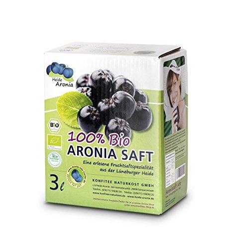 Bio Aronia Muttersaft - Schwarzen Apfelbeerensaft - 100{c030edc4a08836c31217ea5304bd484336bf0e195f838a1c819927e093cbece7} Direktsaft - Aroniasaft aus frischen Aroniabeeren - aus deutscher Landwirtschaft (3 Liter)