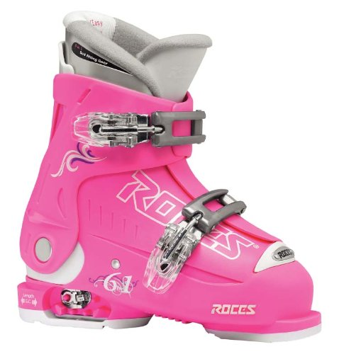 Roces Kinder Skischuhe Idea 22.5-25.5 MP, Deep Pink-White, 36/40