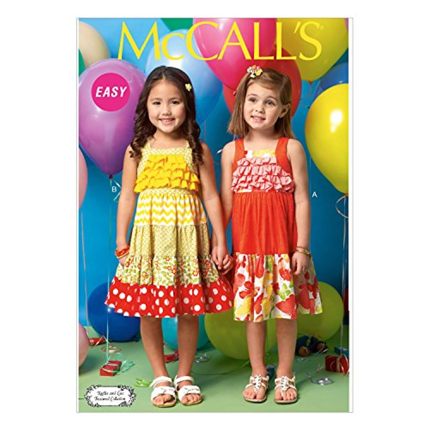 McCall's Patterns M7144 Toddlers'/Children's Dresses Sewing Template, CF (4-5-6)