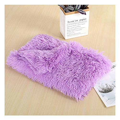 YAOTT Fluffy Plush Soft Warm Washable Blanket for Dogs and Cats Calming Anti-Anxiety Blankets for Pets and Puppies Warm Cozy Throws for Pets Sofa Bed Purple 78×54CM