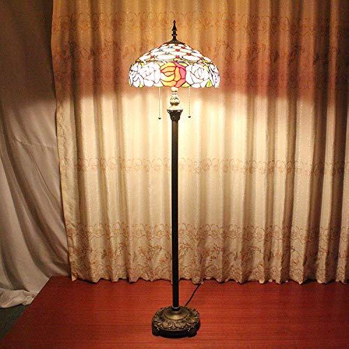 LY88 Licht? L Nordic smeedijzeren kamer staande lamp persoonlijkheid gemakkelijk schoon slaapkamer nachtkastje hoge paal staande lichte kleur: BROWN