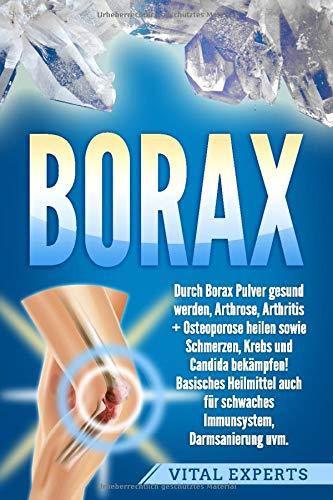 Borax: Durch Borax Pulver gesund werden, Arthrose, Arthritis + Osteoporose heilen sowie Schmerzen, Krebs und Candida bekämpfen! Basisches Heilmittel auch für schwaches Immunsystem, Darmsanierung uvm.