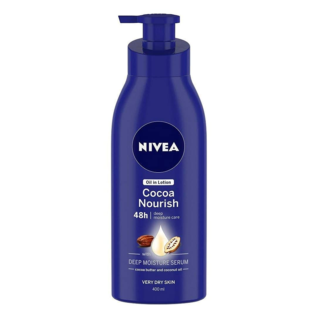 寝室を掃除するストレス引数Nivea Oil in Lotion Cocoa Nourish, 400ml