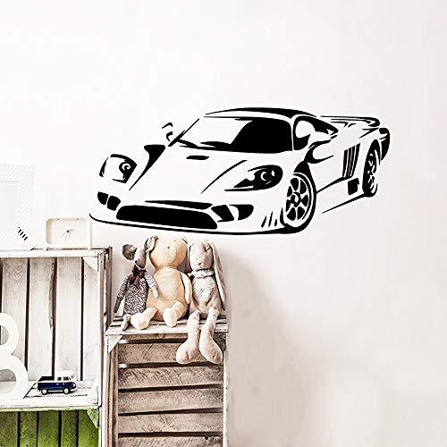 Diseño de personalidad calcomanías de pared de coches deportivos pegatinas de arte para niños calcomanías de decoración de habitación pegatinas de pared otro color 43x101cm