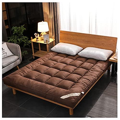 HFAFRZ Piso japonés Futon Colche, colchón de Piso de Tatami Colchón de Camping portátil Cojín de Dormir Rollo Plegable en el Piso de Piso de Piso con Protector de colchón,E,1.0x2.0m