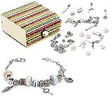 Queta 3Pcs Argent Bracelet Fille Bracelet Fille Kit de Fabri