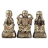 xiaoli Estatua Buda Inicio Buda Estatua Escultura Accesorios Accesorios Decoración Ornamento Esculturas Estatua en Forma de Buda sentada 27cm Estatua de Buda Estatuilla decoración (tamaño : Set)