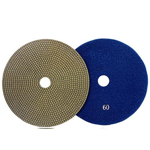 WEISHAN - Disco abrasivo de diamante de 150 mm de diámetro para pulido de diamante de 150 mm de diámetro, herramienta de pulido de piedra de metal de vidrio (grano 200)