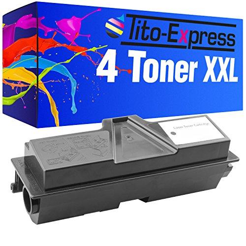 Tito-Express PlatinumSerie 4X Toner-Kartusche XXL Schwarz für Kyocera Mita TK-170 FS-1320 FS-1370 FS-1370DN 32.000 Seiten