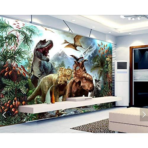 FLYYL Dinosaurier Kinderzimmer Tapete Handgemalte 3D Fototapete Wohnzimmer Kinderzimmer Tapete 280X200CM