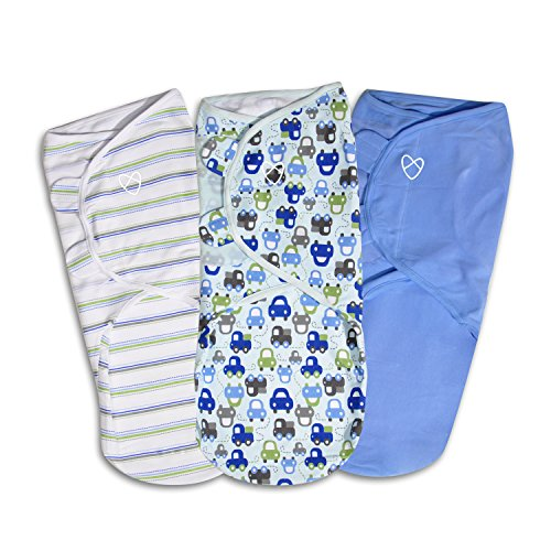 SwaddleMe Original Swaddle – Size Large, 3-6 Months, 3-Pack (Graphic Car)