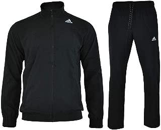 Men's Essentials Woven Tracksuit Track Top Pants Training Set Black S22466