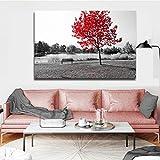 SADHAF Pintura moderna pintura de paisaje en blanco y negro manglar pintura mural sala pintura lienzo impresión arte pintura decorativa A2 40x50cm