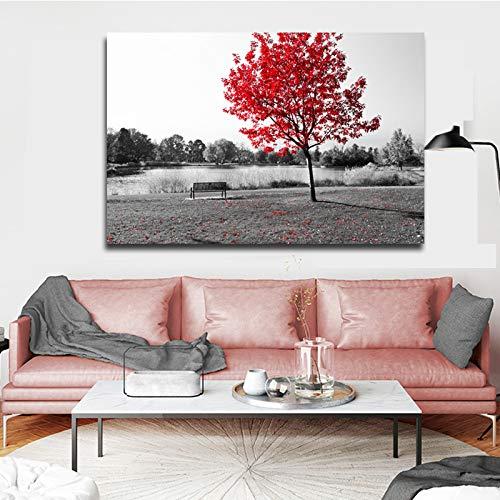 SADHAF Moderne Malerei Schwarzweiss-Landschaftsmalerei Mangrovenwandmalerei Wohnzimmermalerei Leinwanddruckkunst dekorative Malerei A2 40x50cm