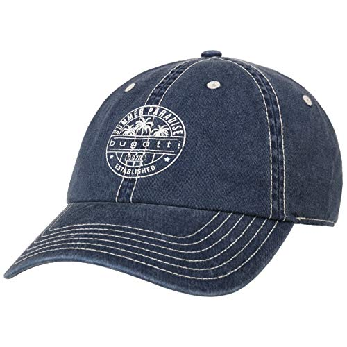 Bugatti Summer Paradise Cap Basecap Baseballcap Baumwollcap Sonnencap (Size 59 - dunkelblau)
