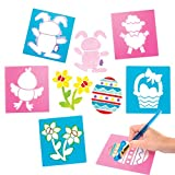 Baker Ross Pochoirs de Pâques (Lot de 6) - Loisirs créatifs de Pâques pour enfants