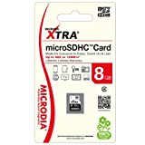 MICRODIA Xtra 52x 8GB MicroSDHC Card with SD Adpater